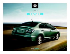 2013 Honda Civic Hybrid Fact Sheet