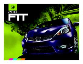 2013 Honda Fit Fact Sheet