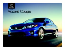 2014 Honda Accord Coupe Spec Sheet