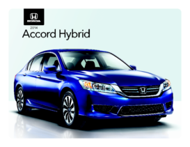 2014 Honda Accord Hybrid Spec Sheet