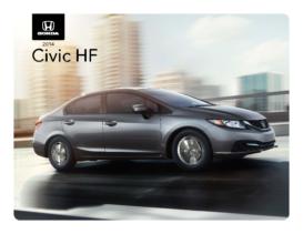 2014 Honda Civic HF Spec Sheet