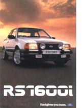 1982 Ford Escort RS1600i UK