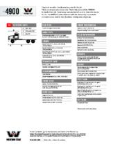 2014 Western Star 4900 XD Tech Sheet