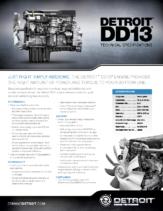 2016 Western Star Detroit DD13 Spec Sheet