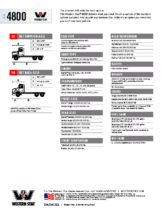 2018 Western Star 4800 Tech Sheet