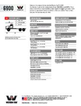2018 Western Star 6900 Tech Sheet