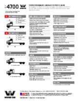 2019 Western Star 4700 Tech Sheet