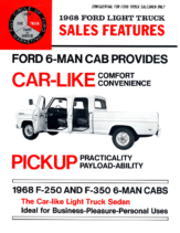 1968 Ford Crew Cab Sales Features