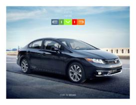 2012 Honda Civic SI Sedan Factsheet