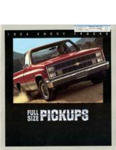 1984 Chevrolet Full Size Pickups