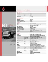 1999 Mitsubishi Fuso FG 4-Wheel Specs