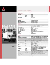 1999 Mitsubishi Fuso FM MR Specs