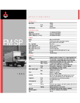 1999 Mitsubishi Fuso FM SP Specs