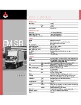 1999 Mitsubishi Fuso FM SR Specs