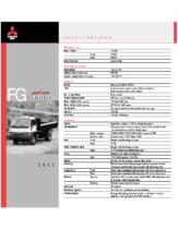2000 Mitsubishi Fuso FG 4-Wheel Specs