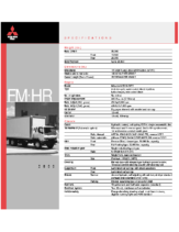 2000 Mitsubishi Fuso FM HR Specs