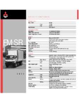 2000 Mitsubishi Fuso FM SR Specs