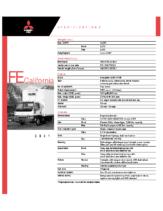 2001 Mitsubishi Fuso FE California Specs