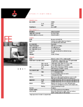 2001 Mitsubishi Fuso FE Specs