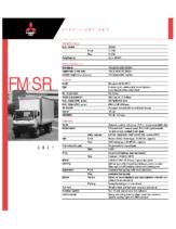 2001 Mitsubishi Fuso FM SR Specs