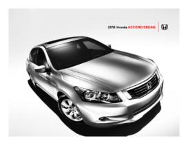 2010 Honda Accord Sedan Fact Sheet