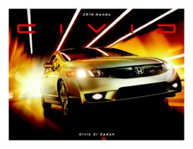 2010 Honda Civic SI Sedan Fact Sheet