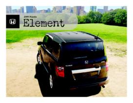 2011 Honda Element Fact Sheet