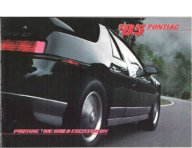 1985 Pontiac Full Line