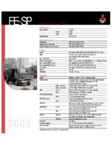 2002 Mitsubishi Fuso FE-SP Specs