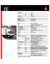 2002 Mitsubishi Fuso FE Specs