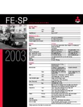 2003 Mitsubishi Fuso FE-SP Specs