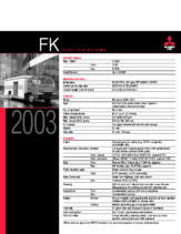 2003 Mitsubishi Fuso FK Specs