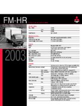 2003 Mitsubishi Fuso FM-HR Specs