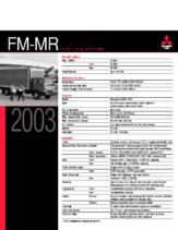 2003 Mitsubishi Fuso FM-MR Specs