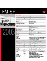 2003 Mitsubishi Fuso FM-SR Specs
