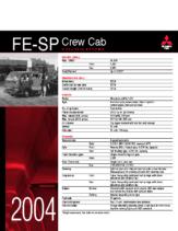 2004 Mitsubishi Fuso FE-SP Crew Cab Specs