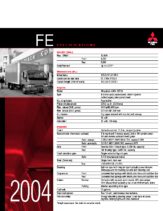 2004 Mitsubishi Fuso FE Specs