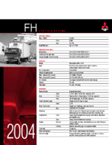 2004 Mitsubishi Fuso FH Specs