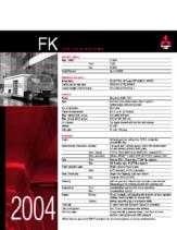 2004 Mitsubishi Fuso FK Specs
