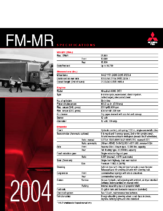 2004 Mitsubishi Fuso FM-MR Specs