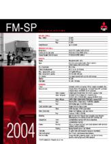 2004 Mitsubishi Fuso FM-SP Specs